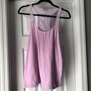 Pink Victoria Secret lace tank workout/sleep-ware